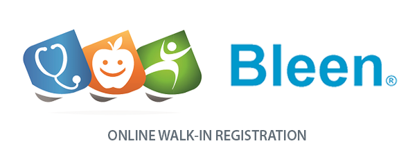 Bleen online walk-in registration